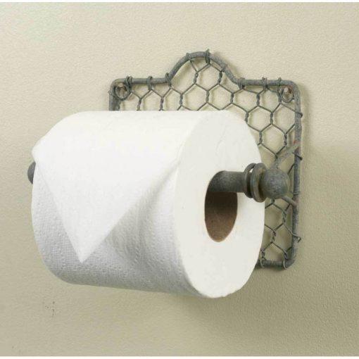 primitive chicken wire toilet paper holder