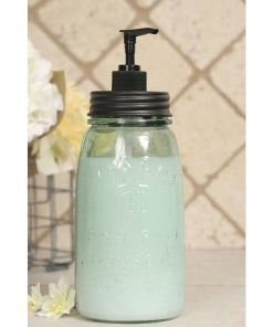 quart mason jar soap dispenser black lid