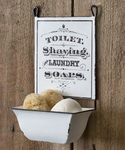 rustic hanging farmhouse soap dish bathroom decor