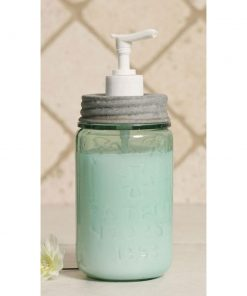 rustic pint mason jar soap dispenser barn roof