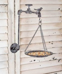vintage garden spigot wall mounted bird feeder