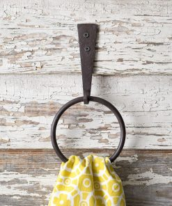 vintage iron strap wall mounted towel ring