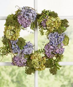adalia soft colored hydrangea wreath