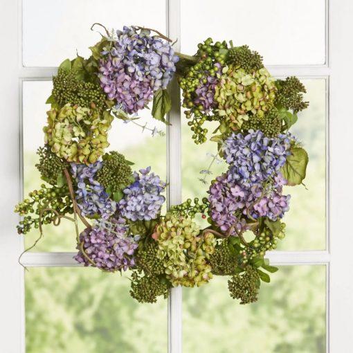 adalia soft colored hydrangea wreath