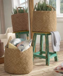adrian 2 piece braided natural jute basket set