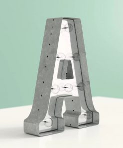 aidy galvanized metal marquee letter block