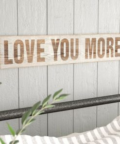 alessandra love you more wood wall decor