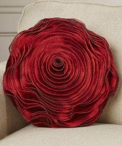 alexandrine red floral throw pillow