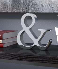 alexia hand made silver aluminum letter block