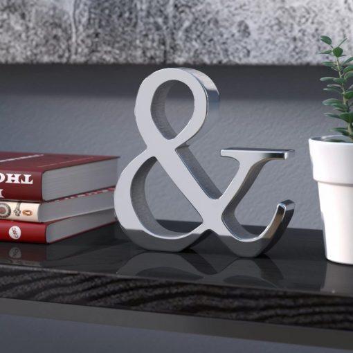 alexia hand made silver aluminum letter block