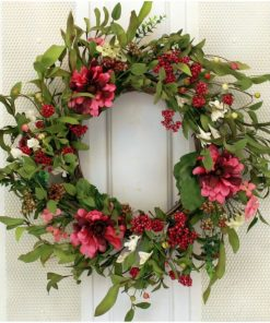 ali peony flower silk and foam wreath