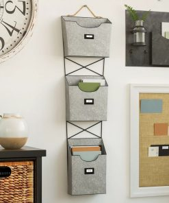 alicia 3 tiered galvanized metal organizer accent shelf