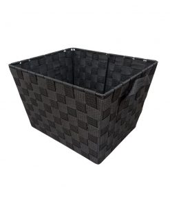alinta woven strap wicker basket with built in handles