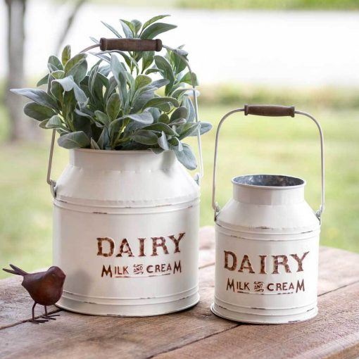 alisa white portable dairy buckets