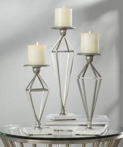 alma metal 3 piece candle stick set