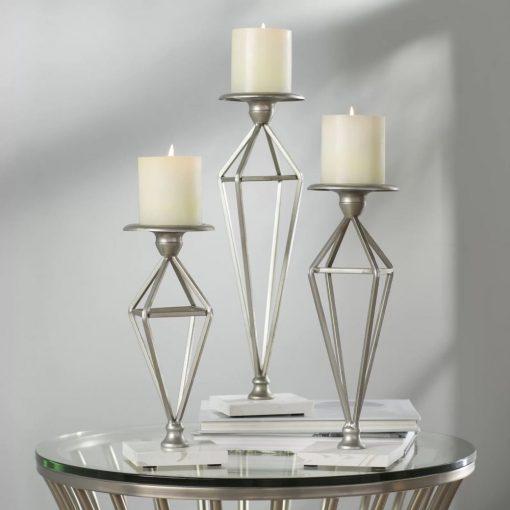 alma metal 3 piece candle stick set