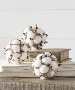 alouette 3 piece cotton ball orbs vase filler set