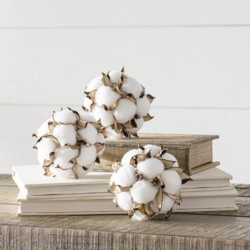 alouette 3 piece cotton ball orbs vase filler set