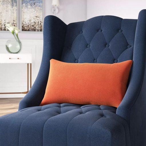 amelia rectangular velvet lumbar pillow