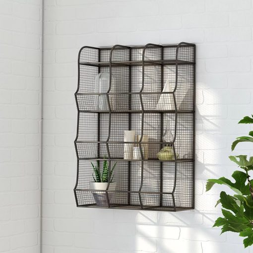 amelia wire mesh 9 bin cubical wall storage