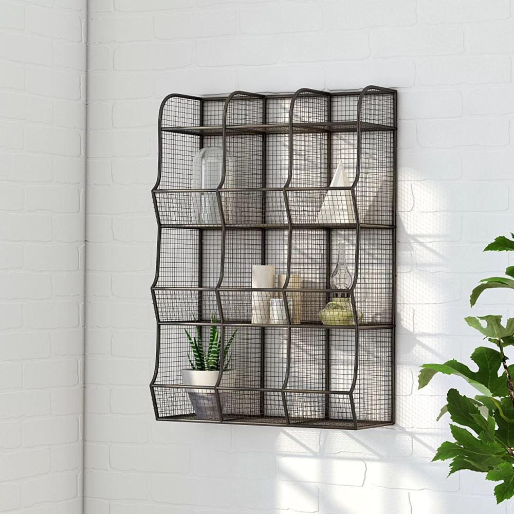 amelia wire mesh 9 bin cubical wall storage