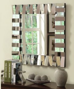 amie charm square beveled wall mirror