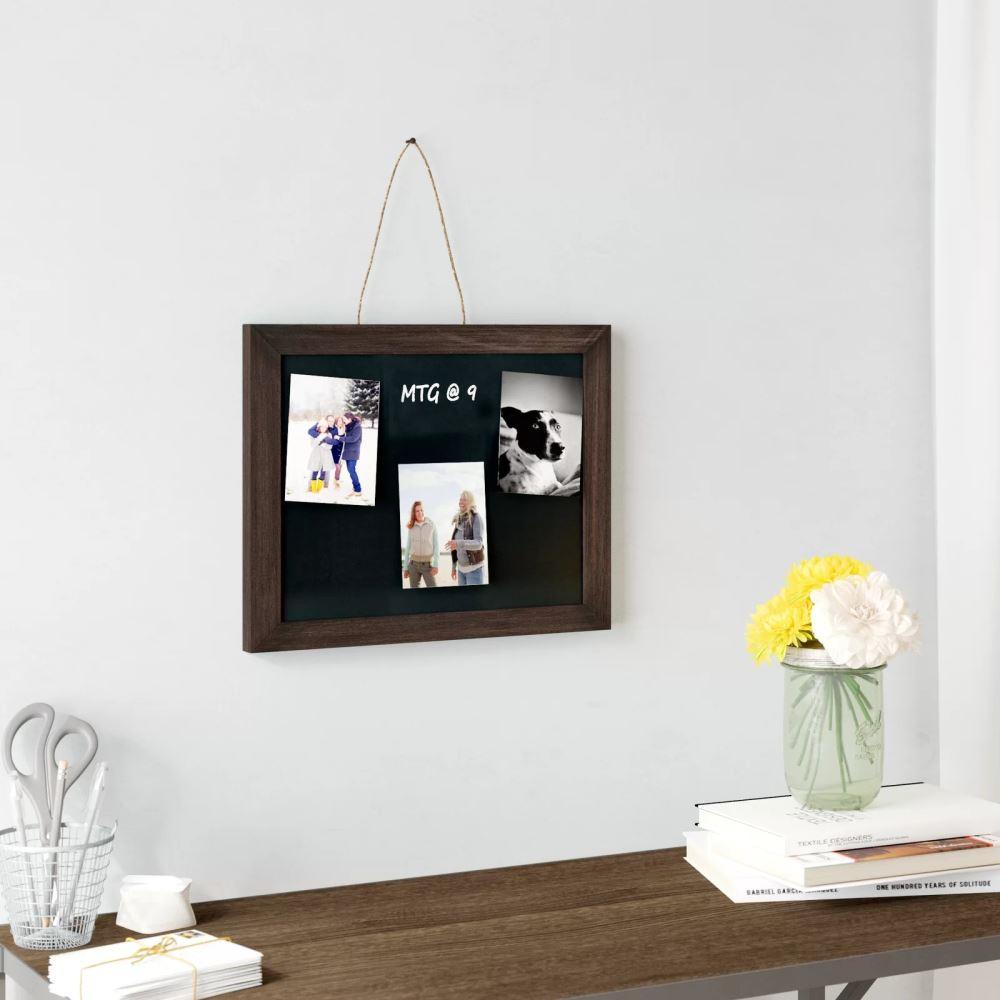 Anaya Wood Frame Hanging Wall Mounted Chalkboard Mocome