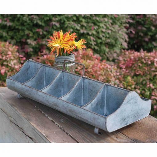 andy galvanized feed trough caddy