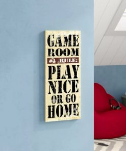 ani distressed game room rules wood wall décor