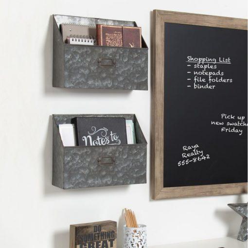 anika 2 pocket shelf organizers with label holder set