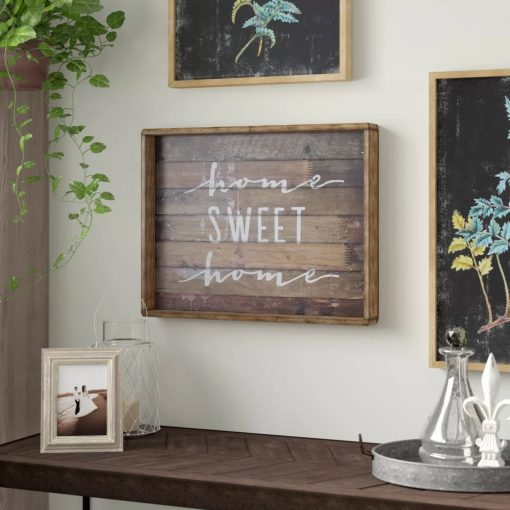 annis distressed home sweet home sign wall décor
