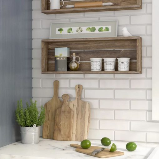 annis rustic solid wood accent shelf
