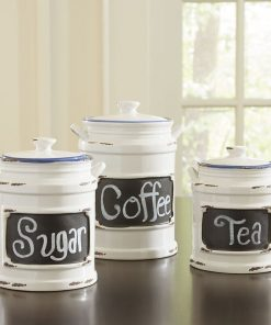 antoinette kitchen canister with chalkboard label set of