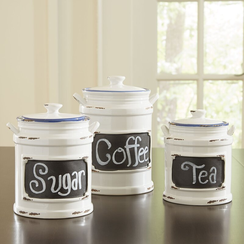Kitchen Canister With Chalkboard Label
