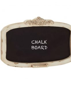 araminta ivory decorative wood wall mounted chalkboard