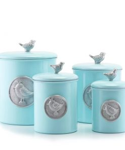 arden bluebird kitchen canister set of