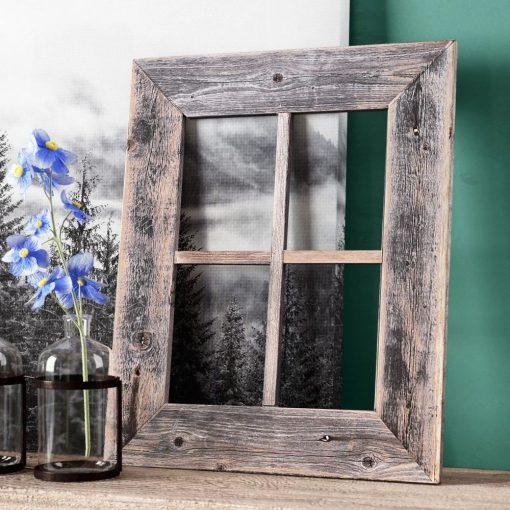 astra rustic barn window frame wall décor