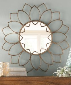 auden metal blooming flowers accent mirror