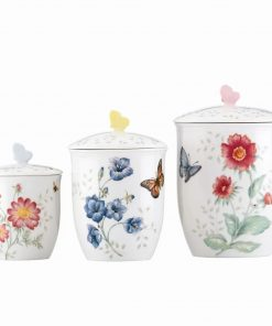 aurelia butterfly meadow storage jar set of