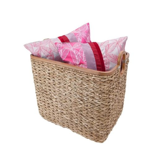 avery 3 piece ombre woven water hyacinth basket set