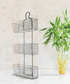 axel three tier wall hanging wire baskets