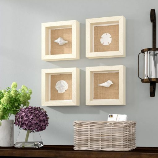 azure 4 piece seashell wall décor set