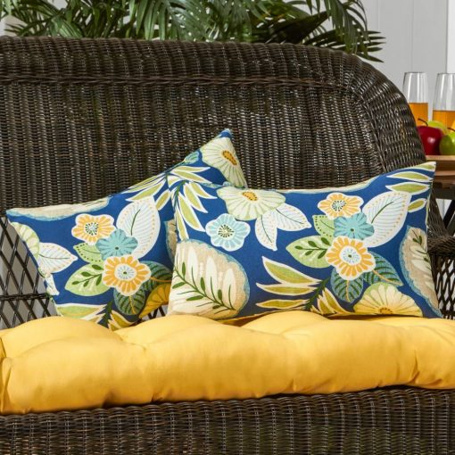 bahia 100 polyester outdoor fabric lumbar pillow