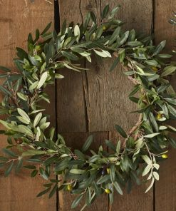 bailey artificial faux olive branch wreath