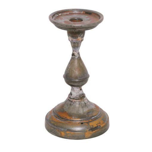 basilia galvanized iron taper candlestick