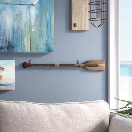 belden rustic squared wooden oar wall décor