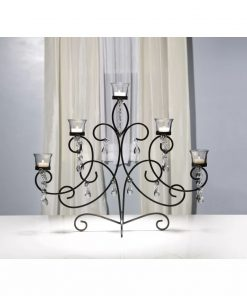 belden swirl shaped with a clear jewel centerpiece candleholder