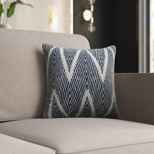 brooklyn chevron 100 cotton throw pillow