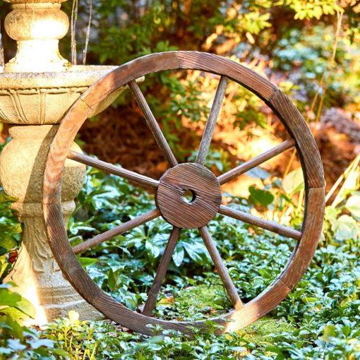 calais wooden wagon wheel trellis wall decor