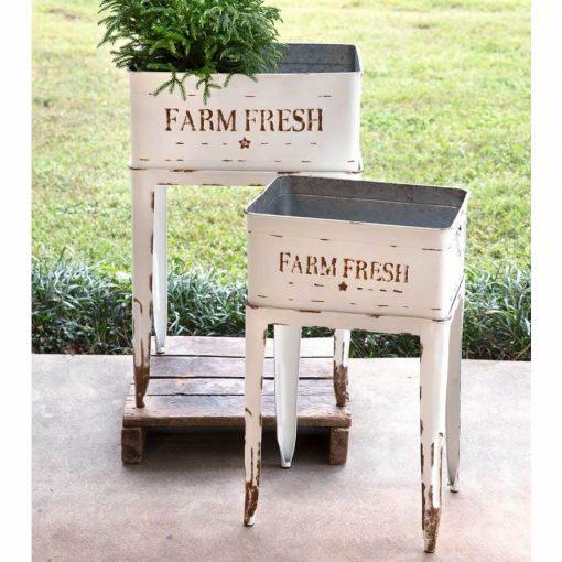 camillia farm fresh white garden tubs set of